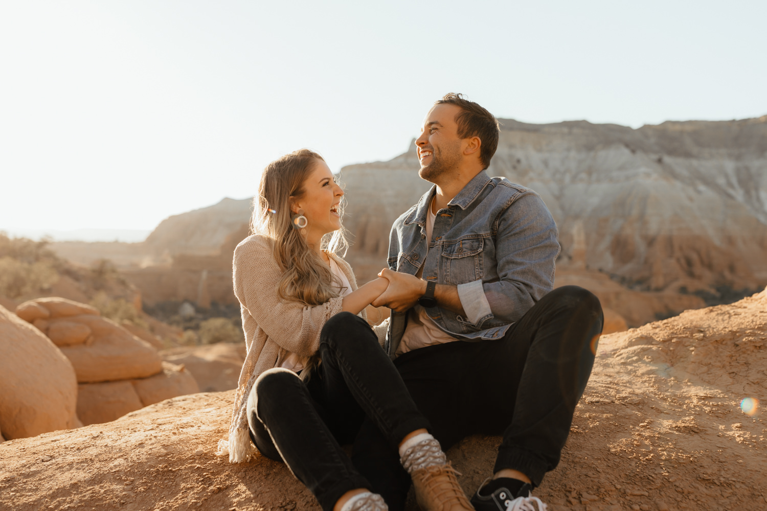 Desert Sunset Couple Session at Bryce Canyon National Park in Southern Utah