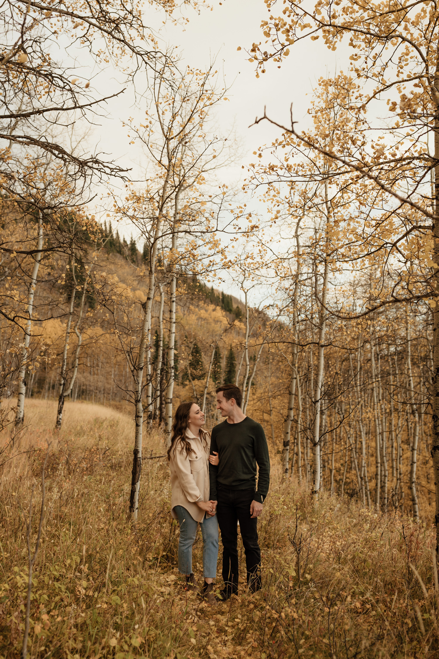 Kananaskis Fall Engagement Session at Bighorn Lookout