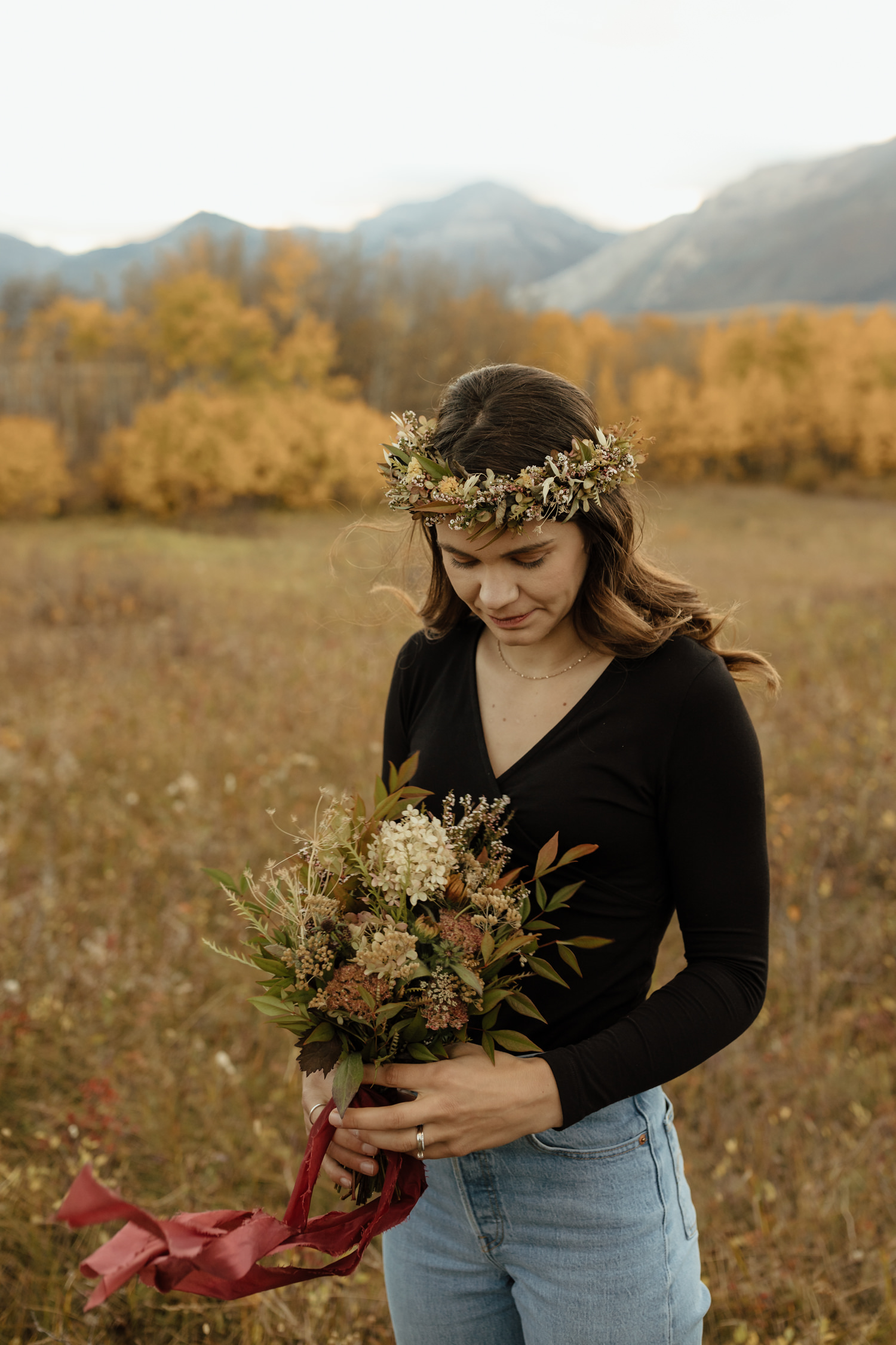 Beautiful Fall Anniversary Session in Waterton Lakes National Park